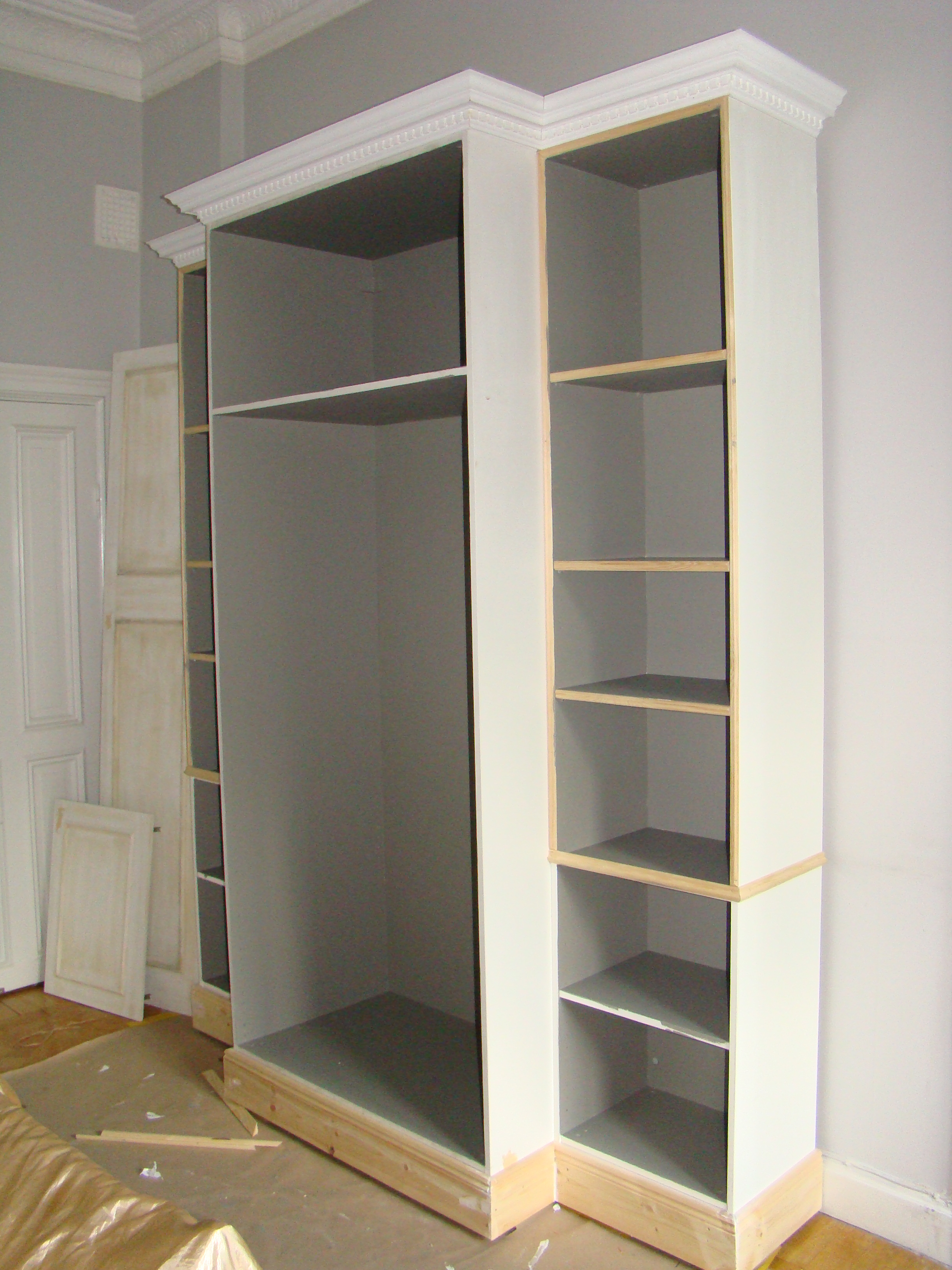 The Bedroom Cupboard Ikea Hack Part 2 The Shabby