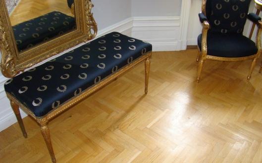 Reupholstered Tabouret Bench