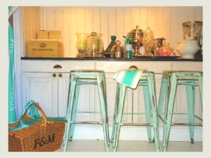 Tolix Style Industrial bar stools